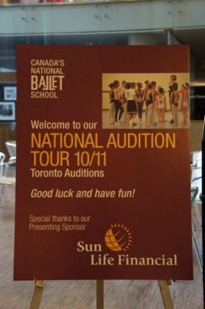 カナダナショナルバレエスクールのオーディション