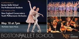 ボストンバレエスクールの発表会の案内